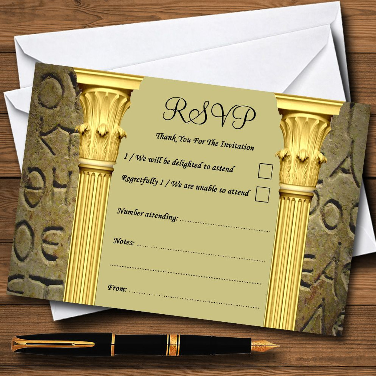 Ancient greek greece toga personalised rsvp cards the card zoo ancient greek greece toga personalised rsvp cards reheart Image collections