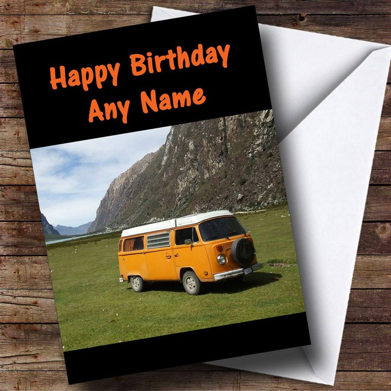 4eedd158b5 Campervan Personalised Birthday Card - The Card Zoo
