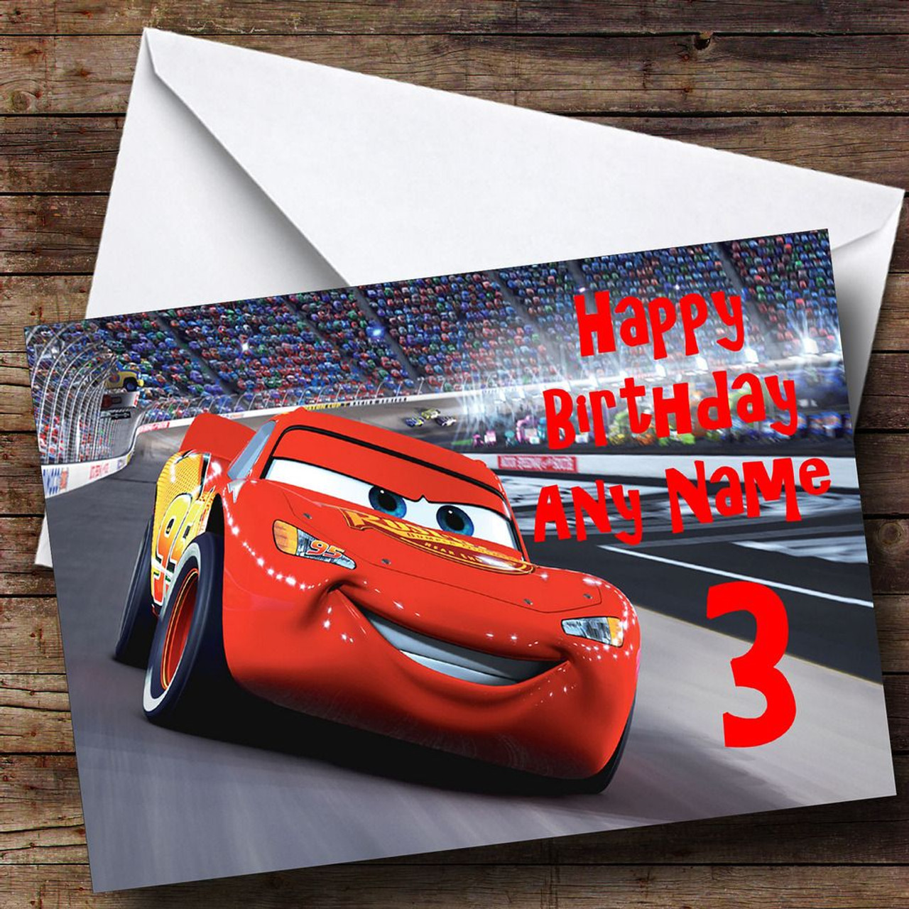 Cars Personalised Birthday Card