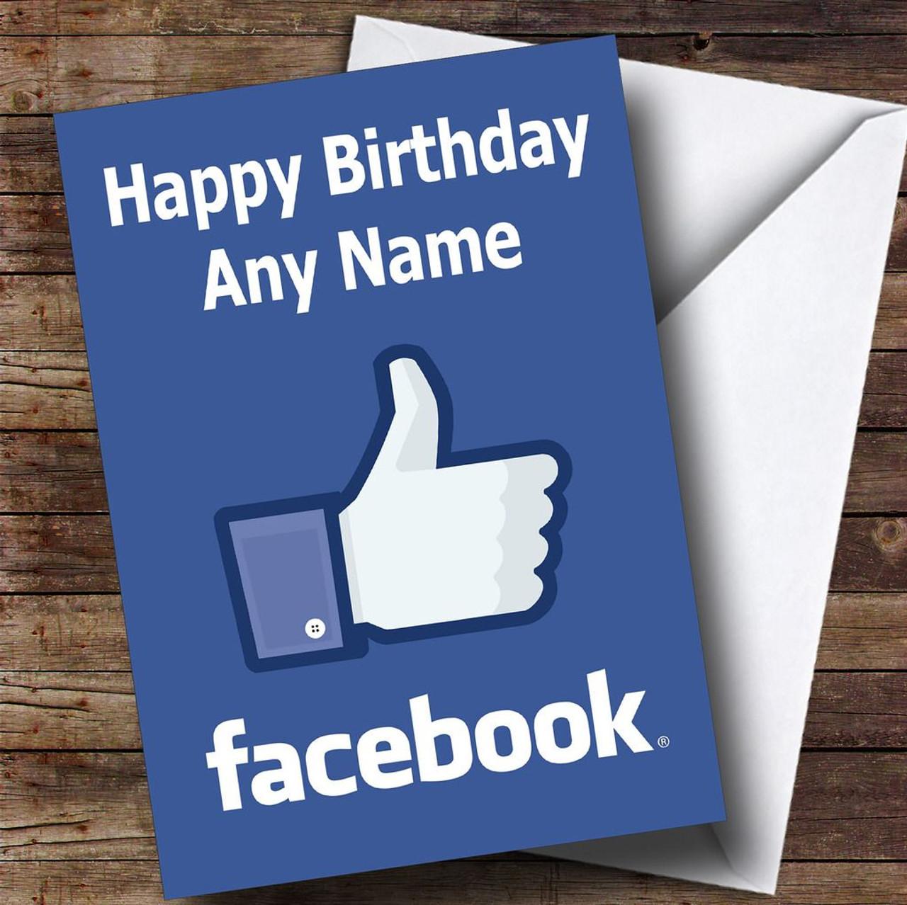 Funny Joke Facebook Personalised Birthday Card