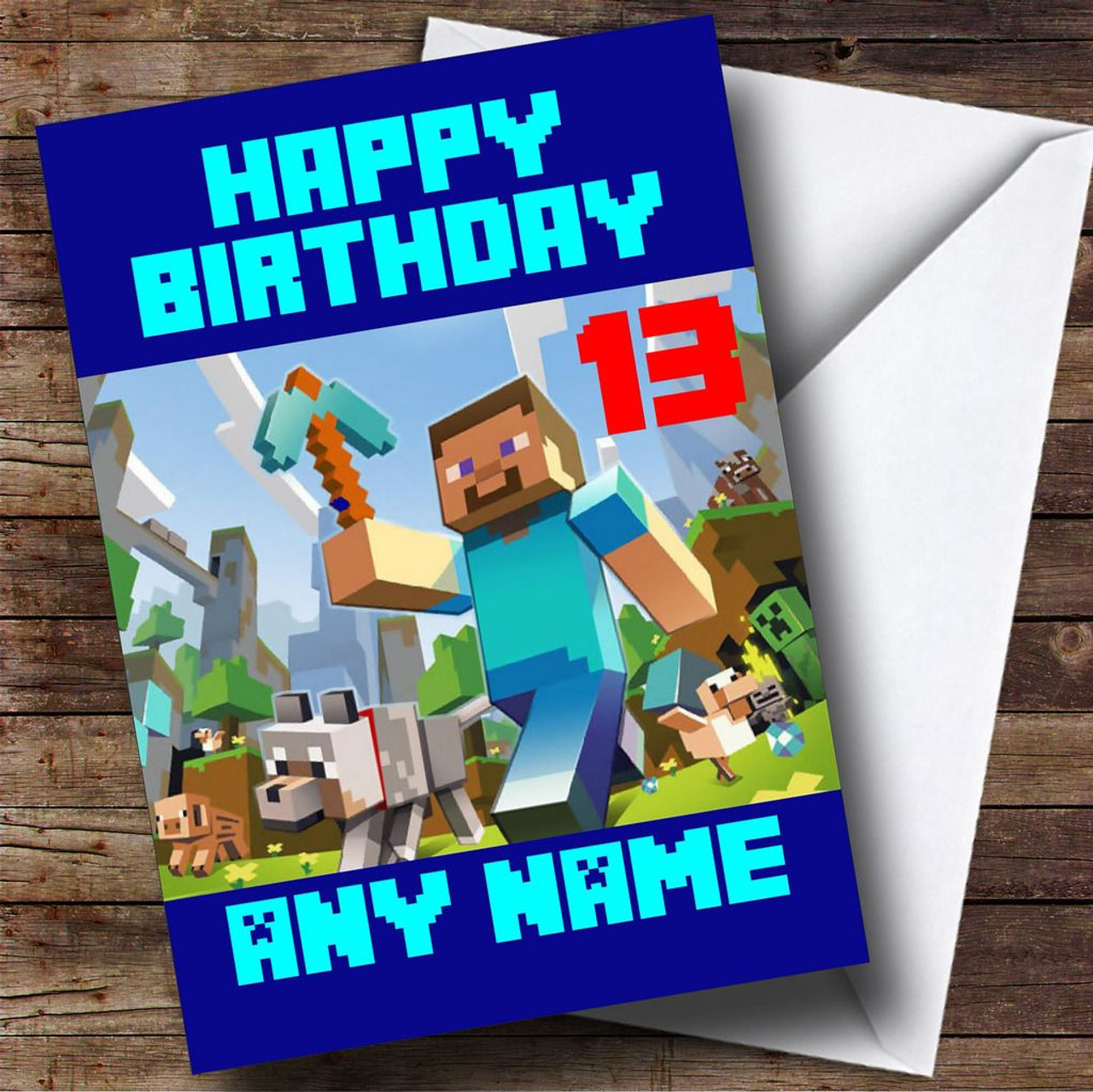 Minecraft personalised birthday card the card zoo minecraft personalised birthday card m4hsunfo