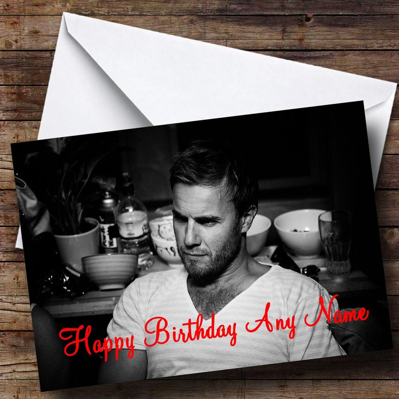 Y Gary Barlow Personalised Birthday Card
