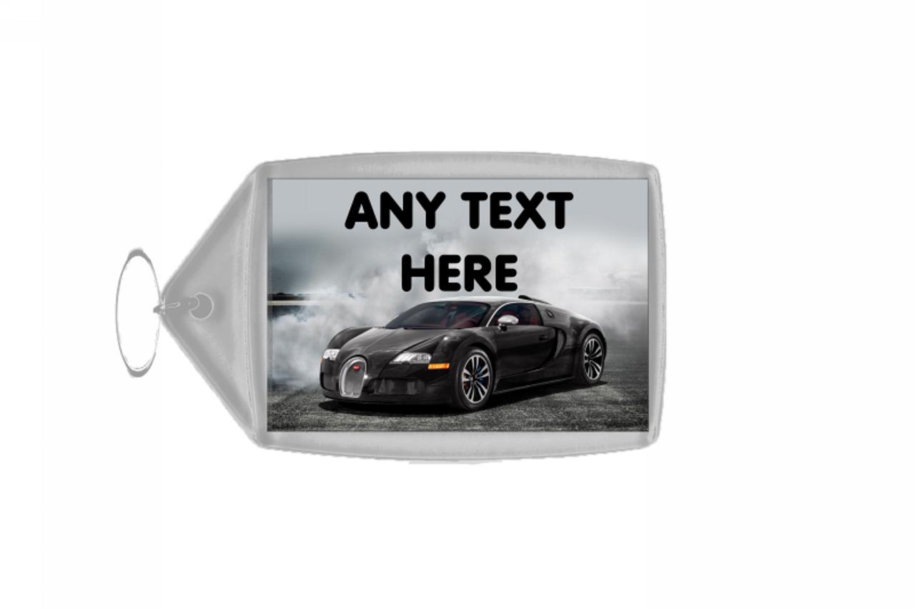 Bugatti Veyron Car Personalised Keyring - The Card Zoo