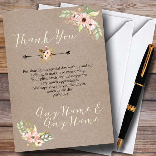Personalised Wedding Stationery Wedding Thank You Cards Page 1