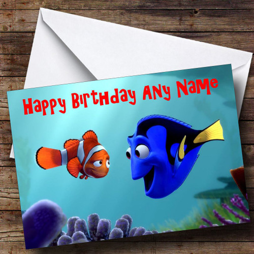 Finding Nemo Personalised Birthday Card The Card Zoo