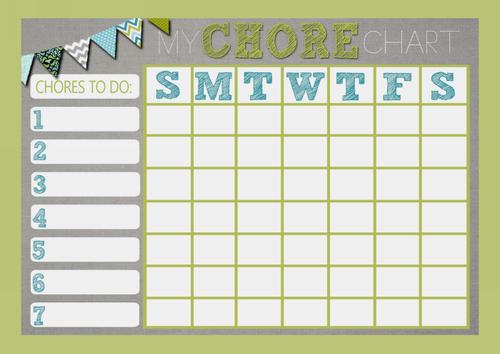 Weekly Chore Rota Task Reward Chart Frozen The Card Zoo