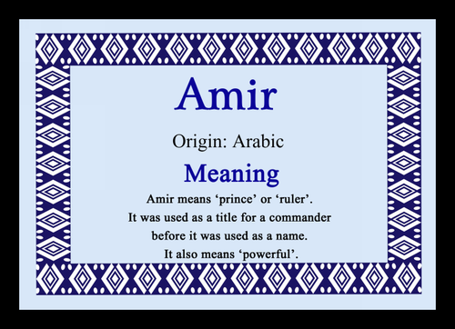 Amira Personalised Name Meaning Coaster - The Card Zoo