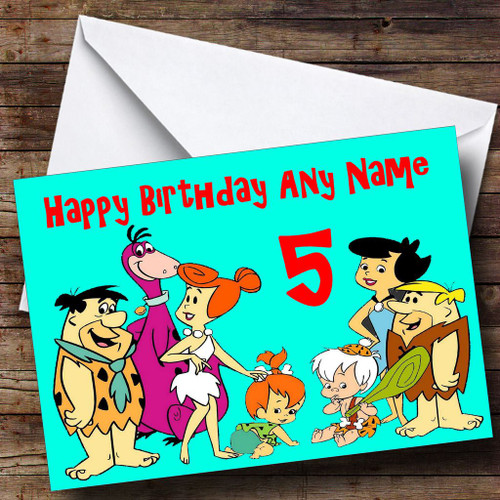 The Flintstones Personalised Birthday Card