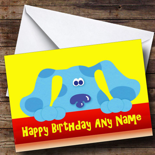 Blues Clues Personalised Birthday Card