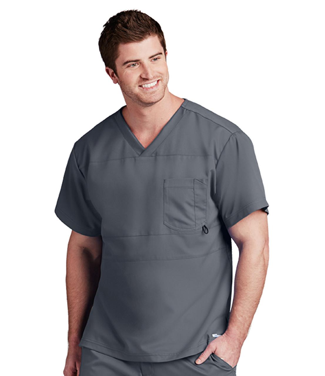 0116 Greys Anatomy Active Scrubs V Neck 2 Pocket Scrub Top