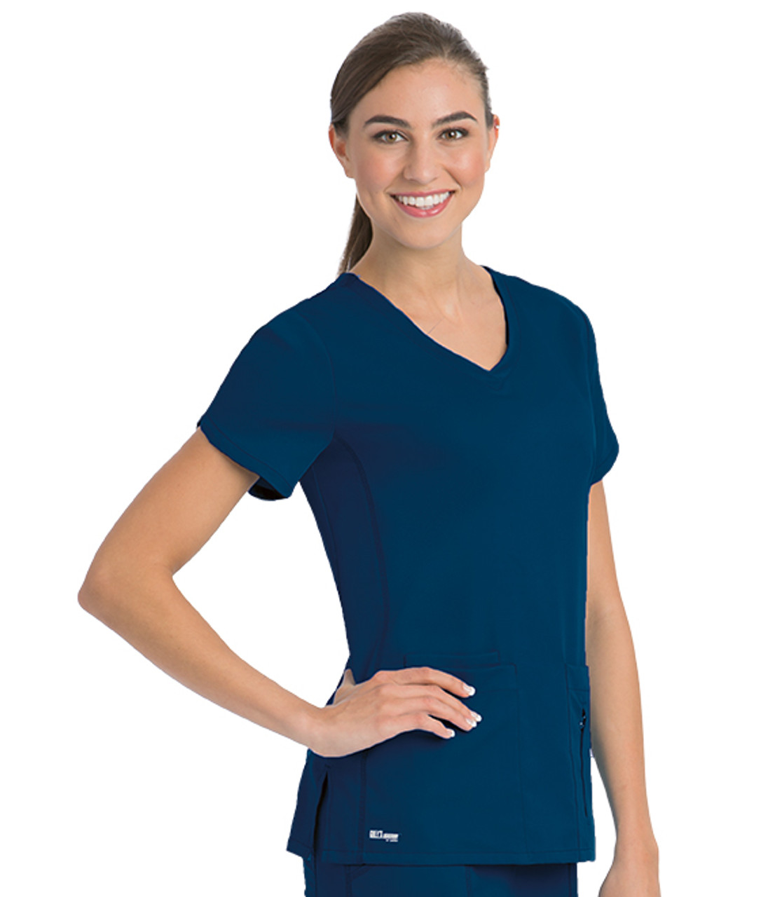 41423) - Grey\'s Anatomy Active Scrubs - Side Panel V-Neck Solid ...