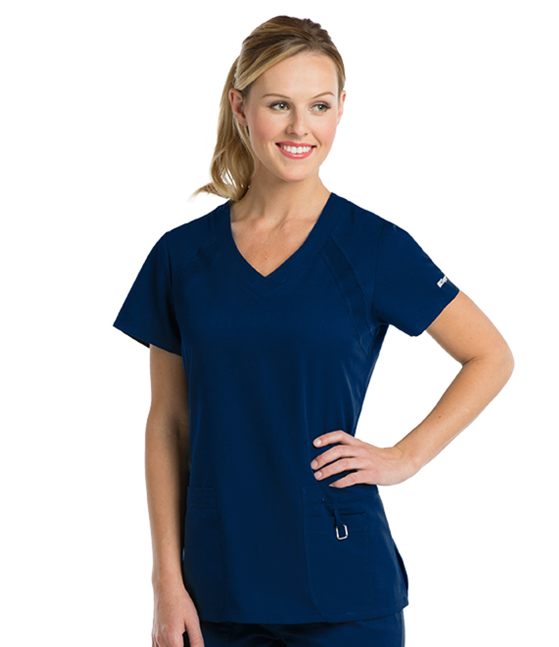 41447 Greys Anatomy Active Tonal Raglan Sleeve Scrub Top