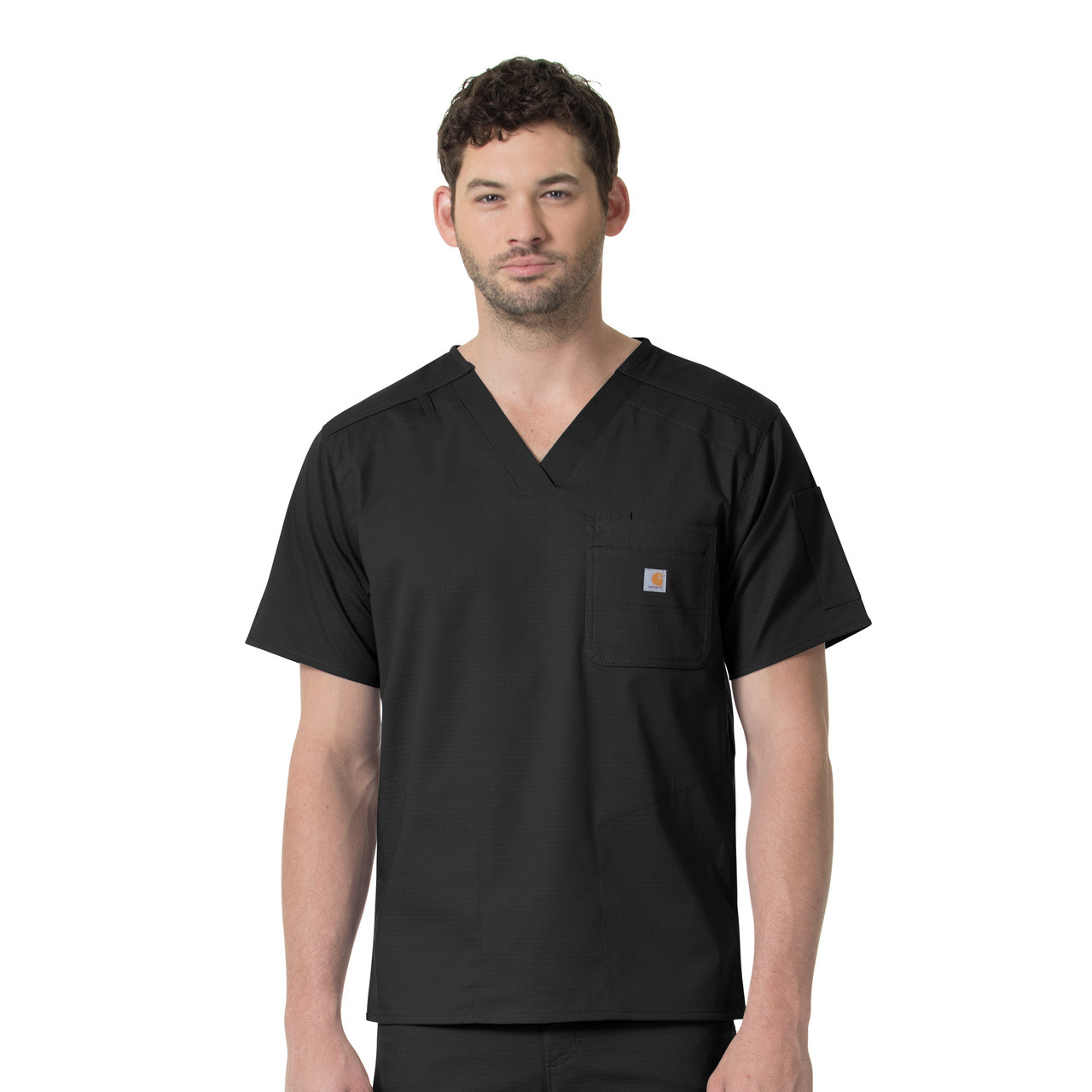 (C16418) Carhartt Ripstop Rugged Flex Men's Slim Fit 6 Pocket Scrub Top