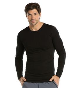 (0305) - Barco One Scrubs - Long Sleeve Male Knitted Seamless Tee