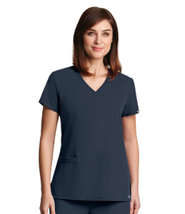 (2115) - Grey's Anatomy Signature 3 Pocket Criss Cross V-Neck Scrub Top