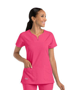 (2121) - Grey's Anatomy Signature Scrubs - 2 Pocket Notch Yoke Neck