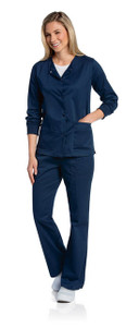 (3507) Landau Scrubs - All Day Snap Front Warm-Up Scrub Jacket