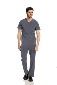 (4142) Landau for Men Scrubs - Men's Media Scrub V-Neck Top
