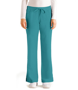 (4232P) Grey's Anatomy Scrubs - 5 Pocket Drawstring Scrub Pants (Petite)