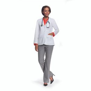 "(4412) - Labcoats by Barco - Junior 28"" 2 Button Flap Pocket Lab W/ Back Belt"