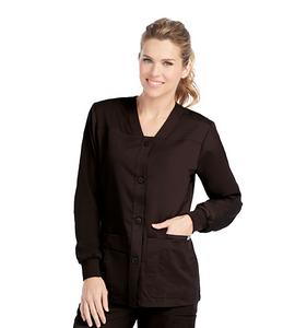 (4435) - Grey's Anatomy Scrubs - 4 Pocket Front Button V-Neck Scrub Jacket