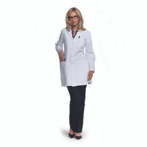 (4451) - ICU Scrubs - Junior 34 Inch 5 Pocket Princess Seam Lab Coat