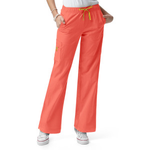 (5214T) WonderWink Four-Stretch Scrubs - Womens Sporty Cargo Pant (Tall)