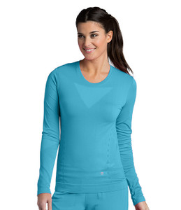 (5305) - Barco One Scrubs - Long Sleeve Knitted Seamless Tee