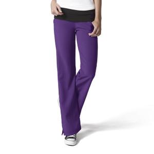 (5514P) WonderWink WonderWink Four-Stretch Women's Fold Over Knit Waist Pant Petite