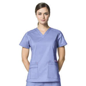 (6108) WonderFLEX Scrubs - Verity V-Neck Top