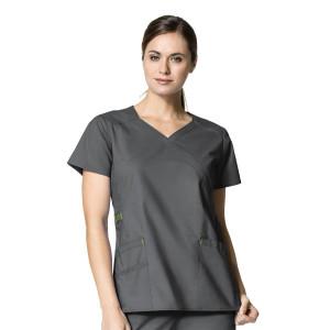 (6308) WonderFLEX Scrubs - Charity Fashion Y-Neck Top
