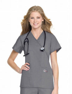 (70224) Scrub Zone Scrubs - Faux Wrap Tunic