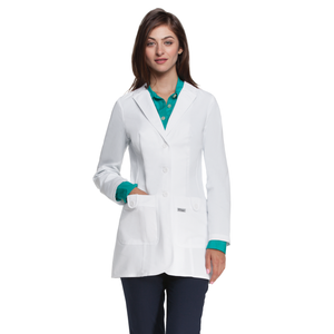 "(7446) - Grey's Anatomy Scrubs - Missy 32"" 2 Pocket Lab Coat W/ Back Tab"