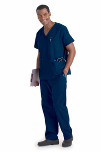 (7489T) Landau for Men Scrubs - Men's 5-Pocket Scrub Top (Tall)