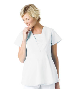 (8001) Landau Scrubs - EMPIRE WAIST MATERNITY TOP
