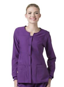 (8114) WonderWink Four-Stretch Women's Sporty Snap Jacket