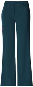 (82011P) Dickies Xtreme Stretch Drawstring Flare Scrub Pants (Petite)