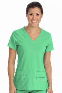 (8416) Med Couture Activate Scrubs - Refined  Sport Knit Top