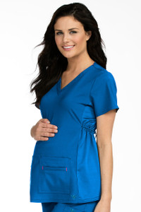 (8459) Med Couture Activate Scrubs - V-Neckline Knit Panel Maternity Top