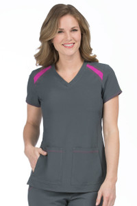 (8545) Med Couture Activate Scrubs - Color Block Top