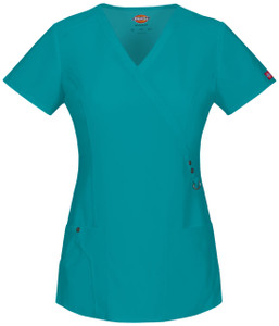 (85956) Dickies Xtreme Stretch Scrubs - 85956 Mock Wrap Top