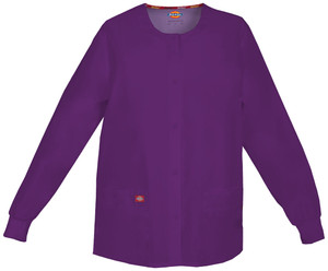 (86306) Dickies EDS Signature Scrubs - 86306 Snap Front Warm-Up Jacket