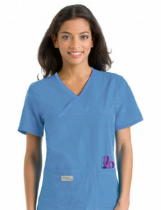(9534) Urbane Scrubs - Double Pocket Crossover Top