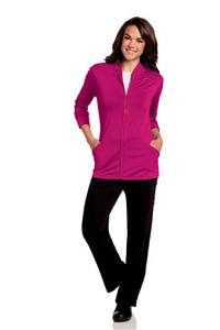 (9873) Urbane Ultra Scrubs - Kristen Knit Zip Front Jacket