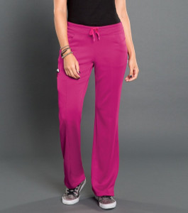 (S201022T) Smitten BLISS Scrubs - ELECTRIC - SMITTEN PONTE PANEL FRONT PANT (Tall)