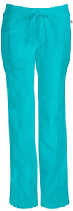 (1123A) Infinity by Cherokee Scrubs Low Rise Straight Leg Drawstring Pant