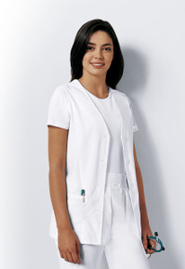 (1602) Cherokee Fashion Solids Scrubs - Button Front Vest