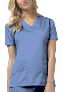 (1845) Cherokee Luxe Scrubs - V-Neck Top