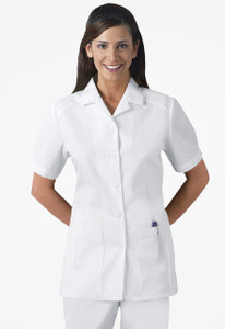 "(2880) Cherokee Professional Whites Button Front 29"" Lab Coat"