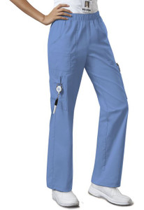(4005) Cherokee Workwear Originals Core Stretch  Mid Rise Pull-On Pant Cargo Pant